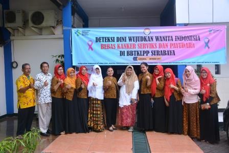 Deteksi Dini Kanker Servix dan Payudara di BBTKLPP Surabaya