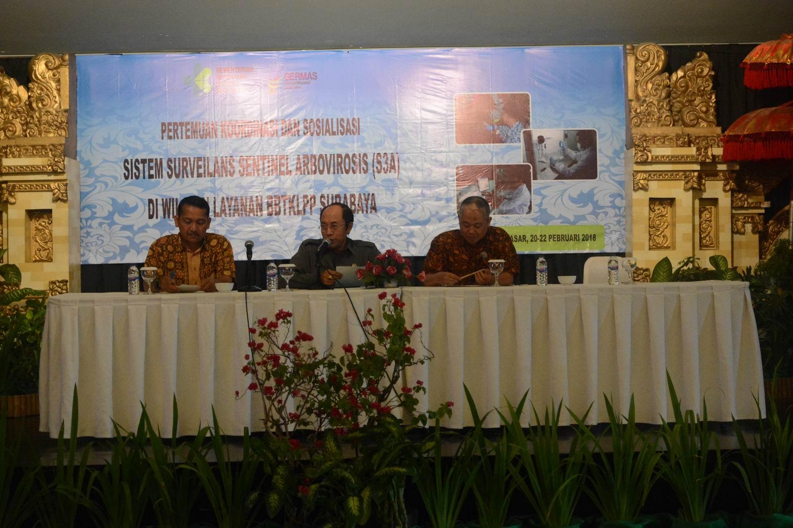 Pertemuan Koordinasi dan Sosialisasi Sentinel Arbovirosis di Wilayah Layanan BBTKLPP Surabaya